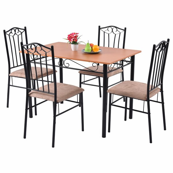 Rossi 5 Piece Dining Set by Fleur De Lis Living
