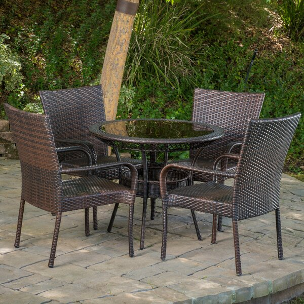 Donahoe 5 Piece Dining Set by Rosecliff Heights