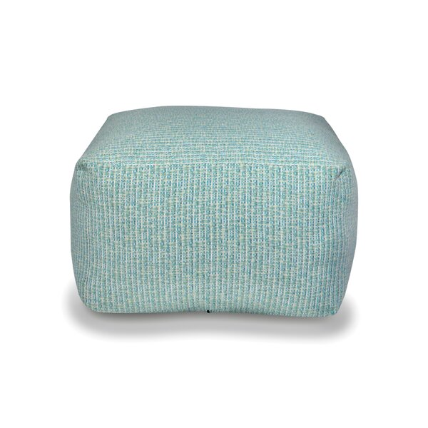 Carribbean Waters Square Pouf by The 1st Chair