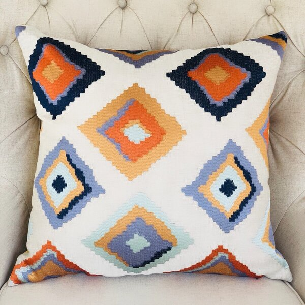 Native Trail Cayenne Handmade Linen Throw Pillow by Plutus Brands