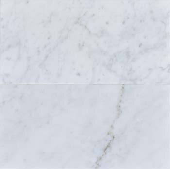 The Bella Collection Carrara 6 X 12 Honed Marble Field Tile In