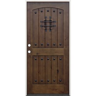 Rustic Alder Prehung Front Entry Door
