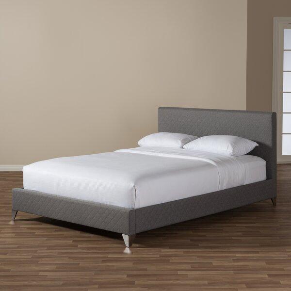Spicer Upholstered Platform Bed by Ebern Designs