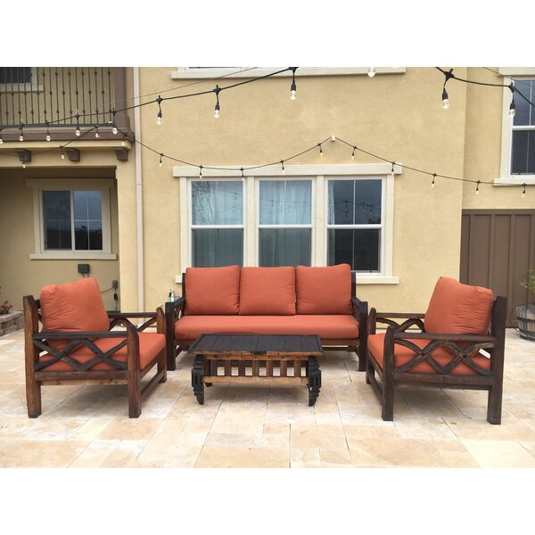Deep Seating Sunbrella Seating Group with Sunbrella Cushions by Loon Peak