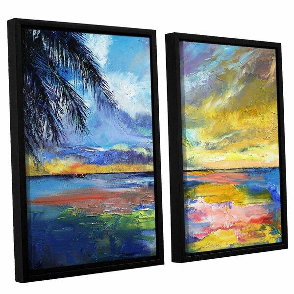 Islamoradana Sunset 2 Piece Framed Painting Print on Canvas Set by Bay Isle Home