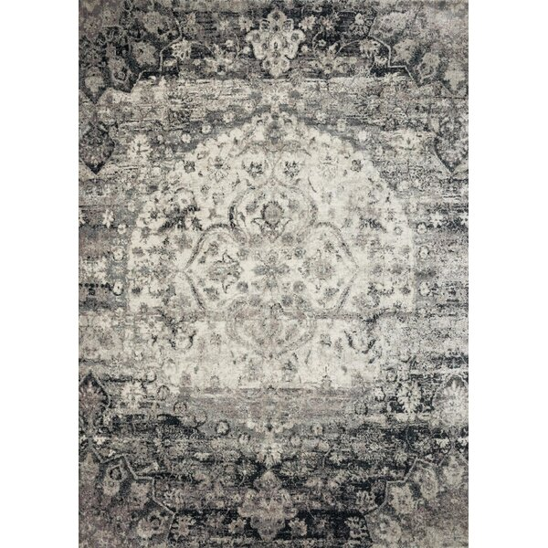 Stern Ink/Ivory Area Rug by World Menagerie