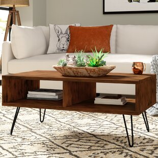 Whitaker Wood Top Coffee Table Union Rustic