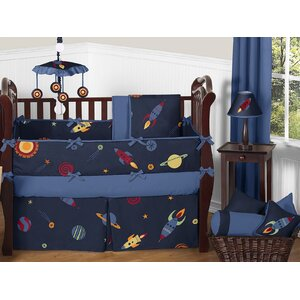 Space Galaxy 9 Piece Crib Bedding Set