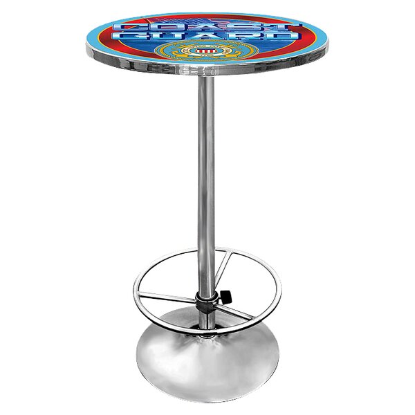 US Coast Guard Pub Table by Trademark Global