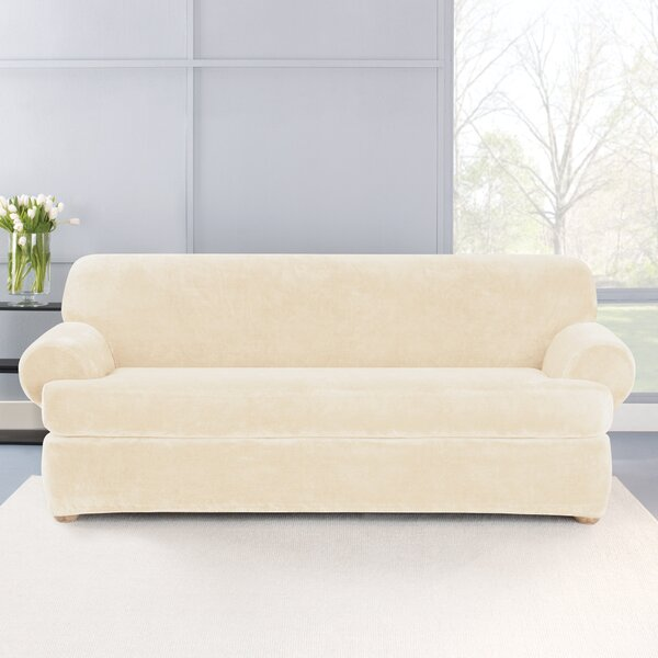 Stretch Plush 2 Piece T-Cushion Sofa Slipcover Set by Sure Fit