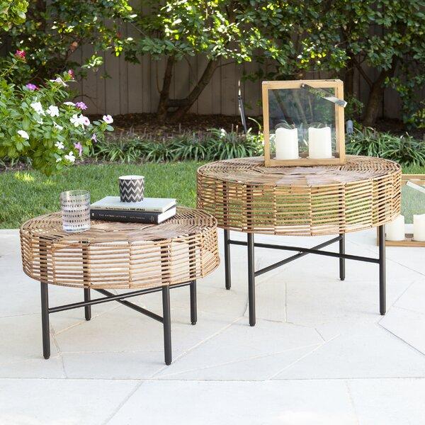 Mandria Wicker 2 Piece Side Table Set by Bayou Breeze