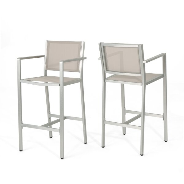 Risager Outdoor 29 Patio Bar Stool (Set of 2) by Latitude Run