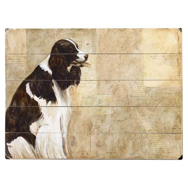 Black & White Dog Drawing Print Multi-Piece Image on Wood & Canvas by Artehouse LLC