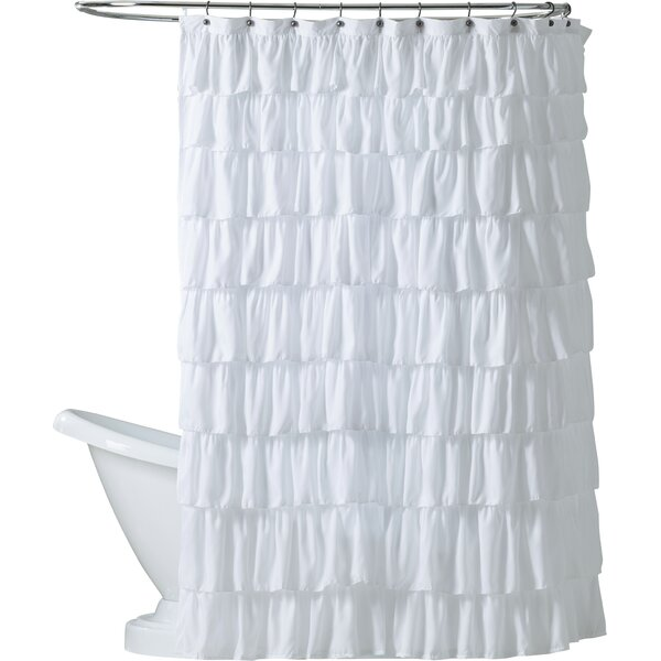 Orona Ruffle Shower Curtain by Lark Manor