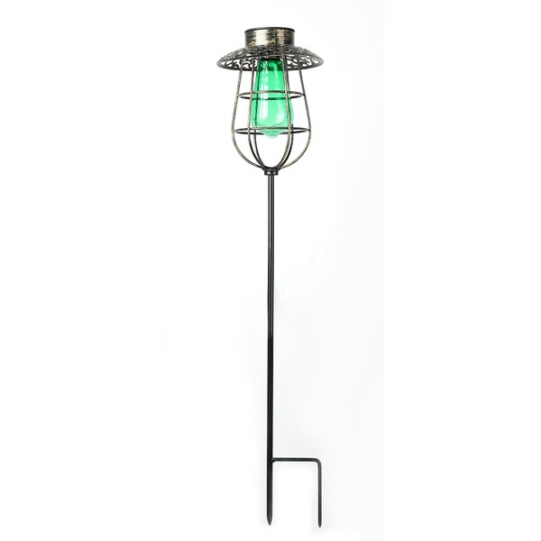 Solar Lantern Garden Stake LED Pathway Light by Winsome House