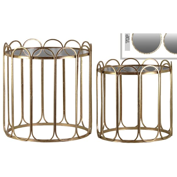 Braxton Round 2 Piece Nesting Tables by Mercer41
