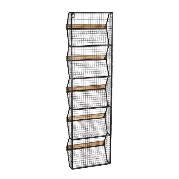Callahan Metal Wall Shelf with Wire Bins by Gracie Oaks