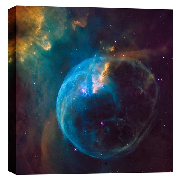 Bubble Nebula Nasa Hubble Space Telescope Giclee Photographic Print on Wrapped Canvas by Cortesi Home