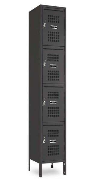 4 Tier 1 Wide Employee locker by Jorgenson Lockers4 Tier 1 Wide Employee locker by Jorgenson Lockers