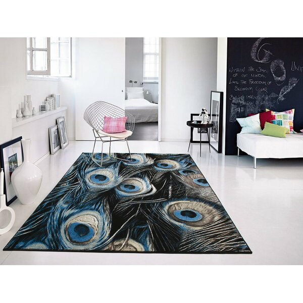Willoughby Black/Blue Area Rug by Bloomsbury Market