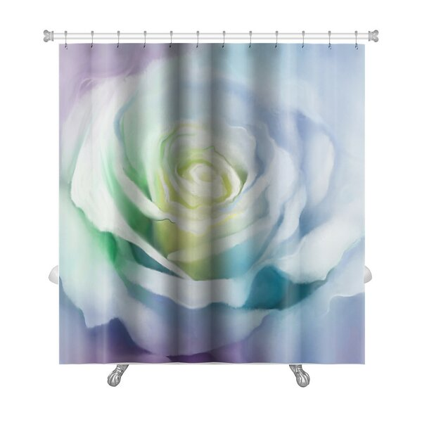 Flowers Close Up of Rose Petals Premium Shower Curtain by Gear New