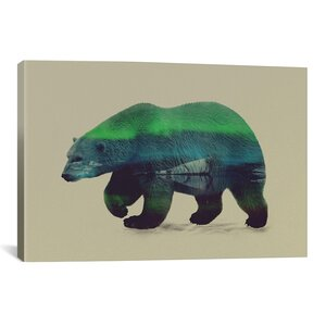 'Northern Light for Polar Bear' by Andreas Lie Graphic Art on Wrapped Canvas by Brayden Studio