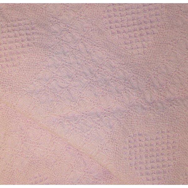 Buckler Pink Heart Honeycomb Cotton Baby Afghan Th