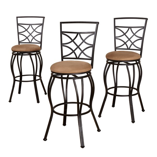 Rigsby Adjustable Height Bar Stool (Set of 3) by Charlton Home