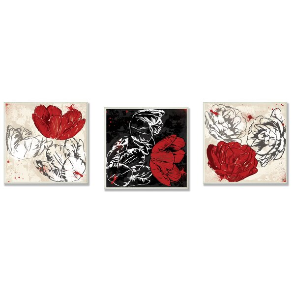 Floral 3 Piece Wall Plaque Set by Stupell Industries