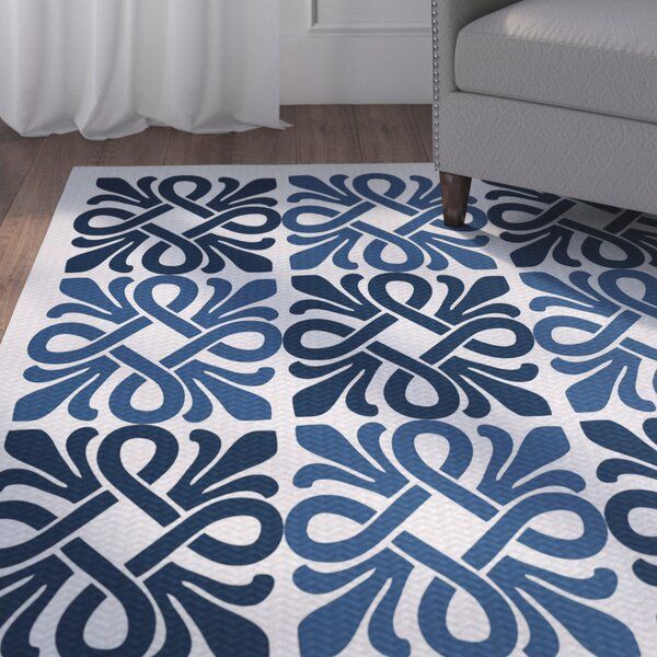 Temple Terrace Blue Indoor/Outdoor Area Rug by Beachcrest Home