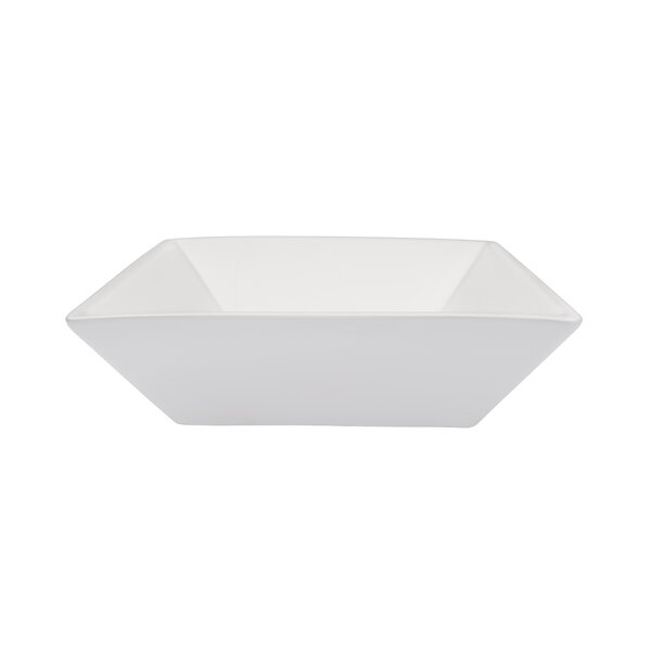 Ceramic Square Vessel Bathroom Sink by Novatto