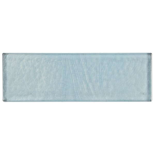 Williamsburg 2 x 8 Glass Block Tile in Sky Blue by