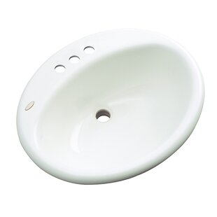 Bayport Oval Drop-In Bathroom Sink with Overflow Solidcast
