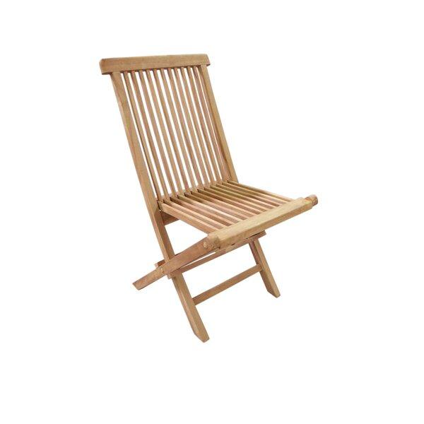 Garner Folding Teak Patio Dining Chair (Set Of 2) By Canora Grey