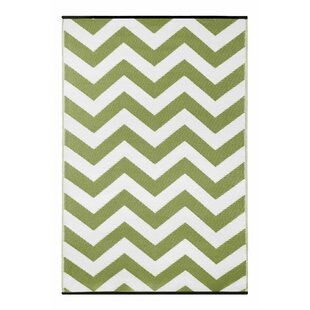Top Reviews Lightweight Reversible Leaf Green/White Indoor/Outdoor Area Rug By Wildon Home ®