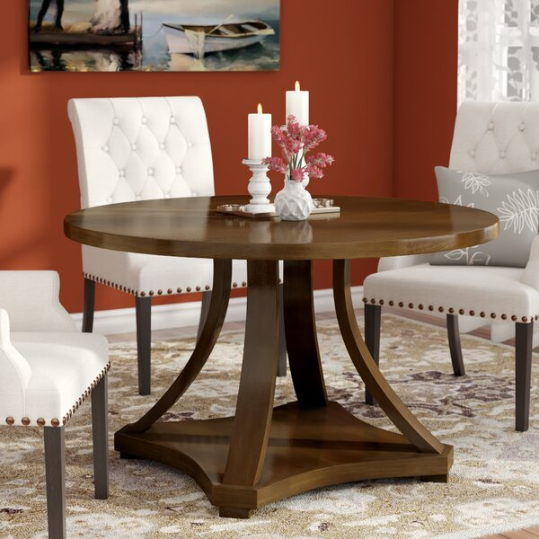 Angelica Round Dining Table by Charlton Home