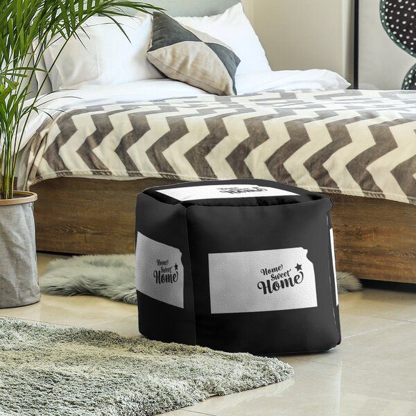 Home Sweet Topeka Cube Ottoman by East Urban Home East Urban Home