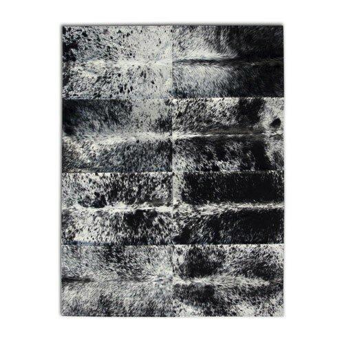 Patchwork Cowhide Oak Coal Grey Area Rug by Pure Rugs