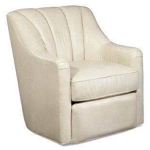 Merveilleux Fitzgerald Leather Swivel Armchair