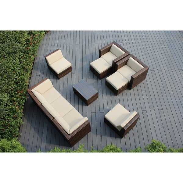 Banneker 10 Piece Sectional Seating Group with Cushions by Orren Ellis