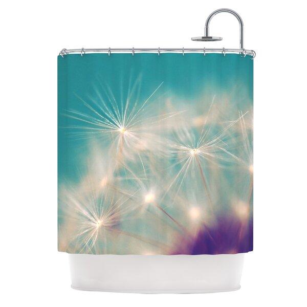 Dandelion Seedhead Shower Curtain by East Urban Home