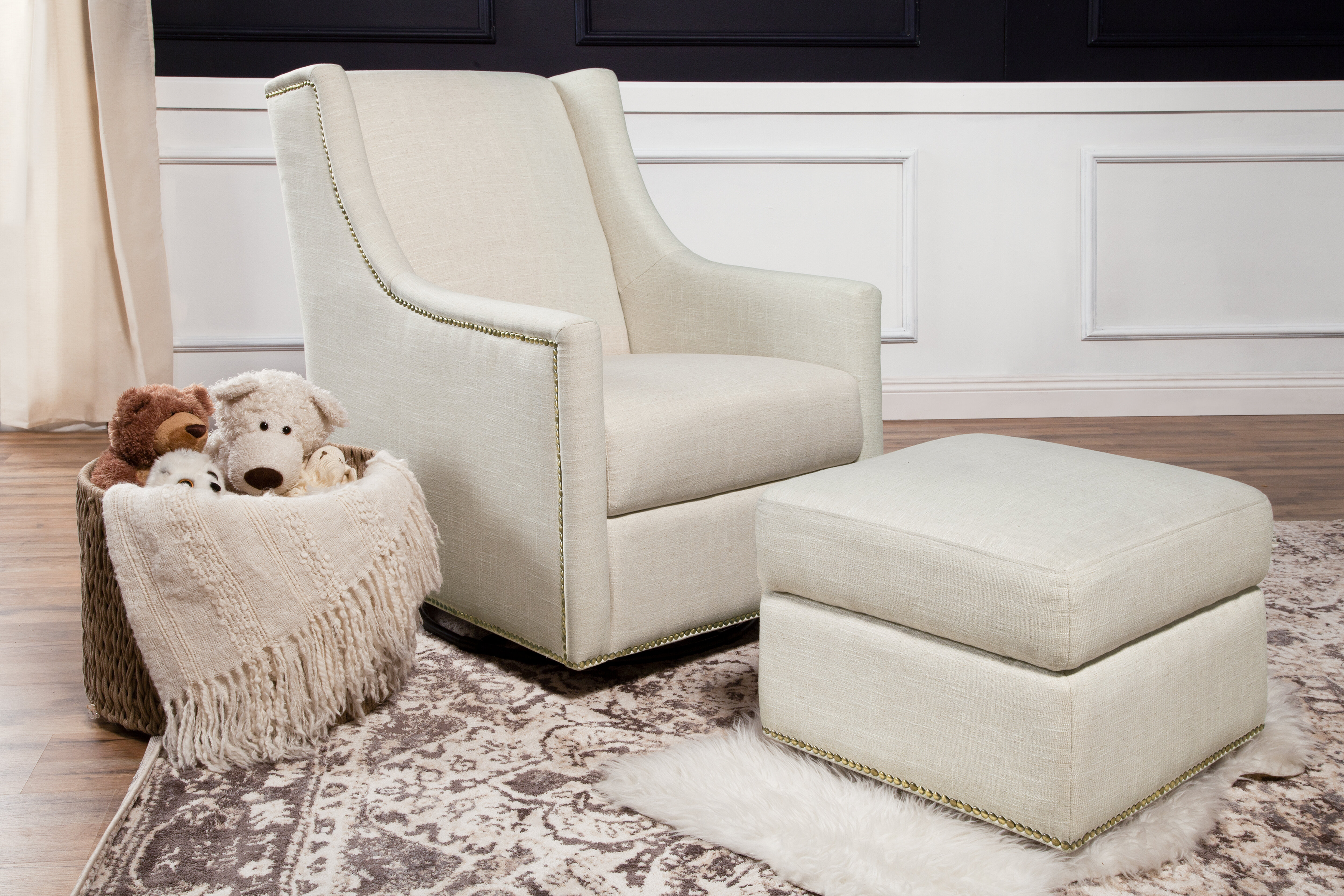 Million Dollar Baby Classic Harper Glider And Ottoman Reviews