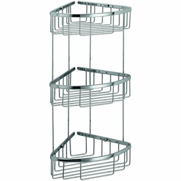 Snowhill Bath Corner Shower Caddy Shelf Basket by Orren Ellis