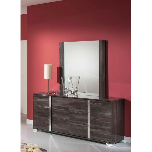 Demaria 6 Drawer Double Dresser with Mirror by Orren Ellis