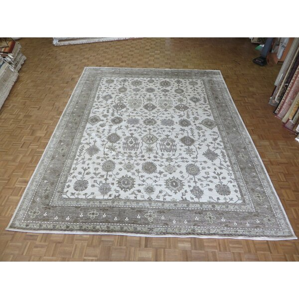One-of-a-Kind Josephson Oushak Hand-Knotted Wool Ivory/Gray Area Rug by Canora Grey