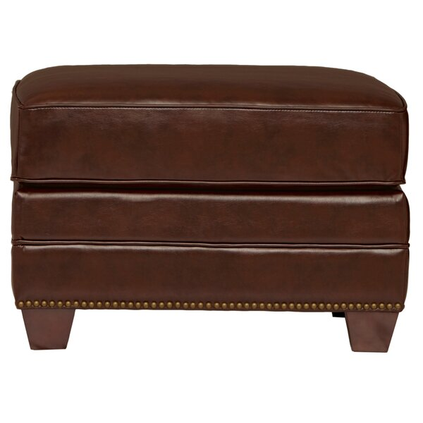 Bauer Leather Ottoman by Harbor House