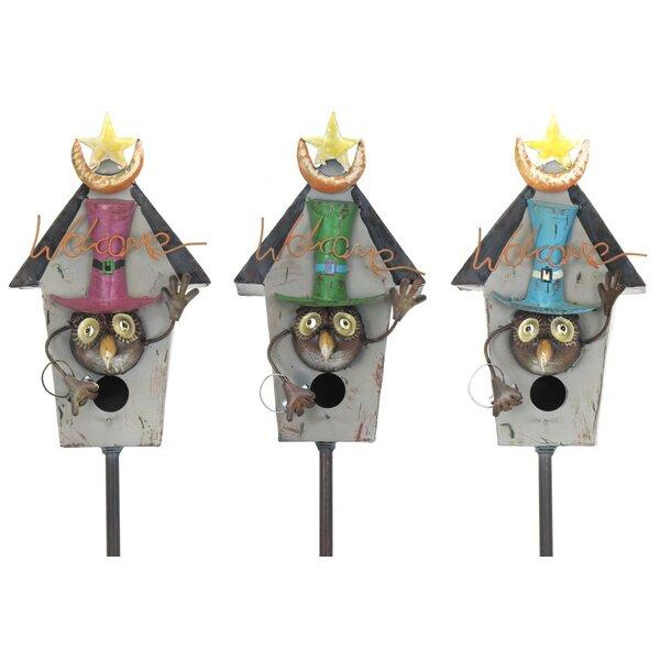 Stakes Iron 64 in x  8 in x 5 in Birdhouse by Zaer Ltd International