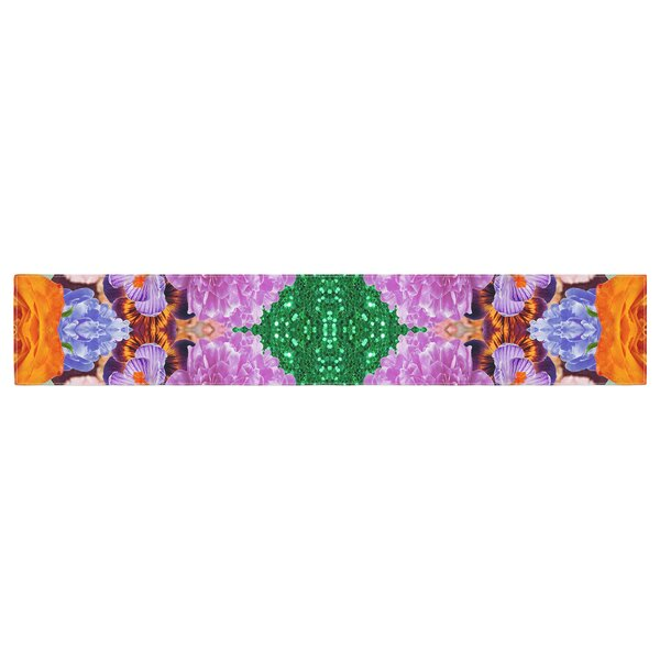 Vasare Nar Kaleidoscopic Flowers Table Runner by East Urban Home
