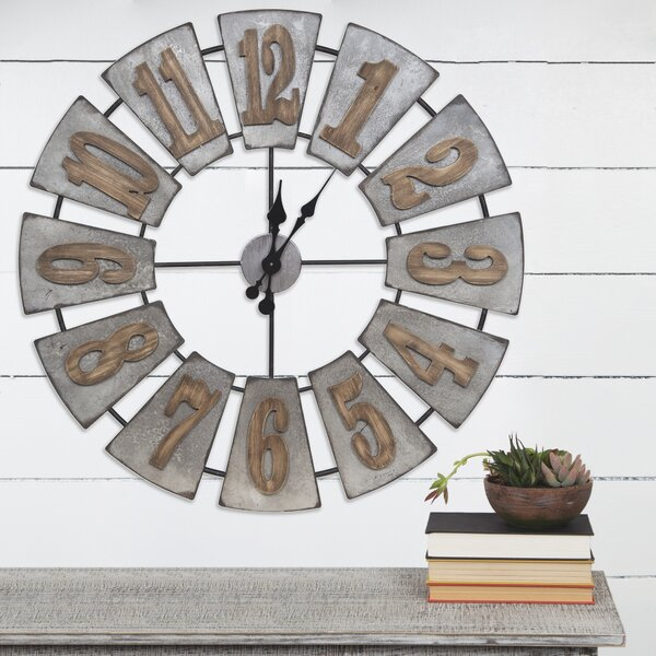 Shamir Oversized Metal and Wood Windmill 33.75 Wall Clock by Gracie Oaks| @ $99.99