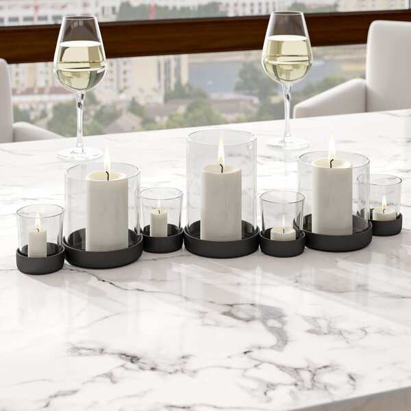 Selby 7 Piece Bubbles Iron/Glass Candle Holder Set by Brayden Studio